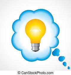 bulbo, idea, illustrazione