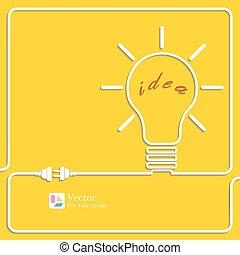 bulbo, idea, luce