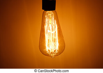 bulbo, lampada, riscaldare, luce