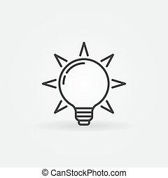bulbo leve, ícone