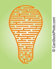 bulbo leve, labirinto