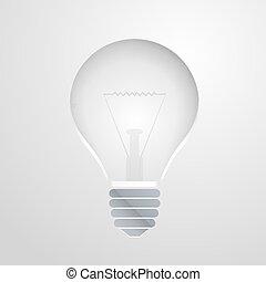 bulbo, símbolo, idéia