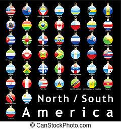 bulbos, bandeiras americanas, natal
