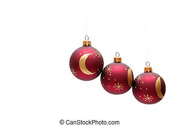 bulbos, natal, vermelho