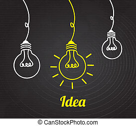 bulbs design over black background vector illustration
