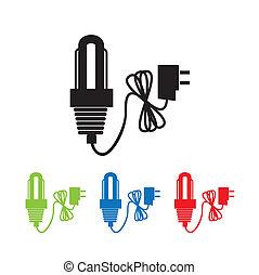 bulbs energy over white background vector illustration