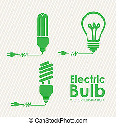 bulbs icons over lineal background vector illustration