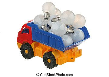 Bulbs in the truck