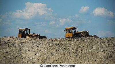 buldożer, praca