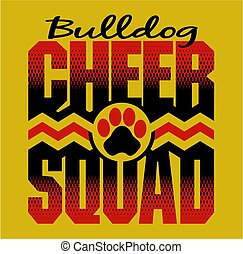 buldog, cheer, squad