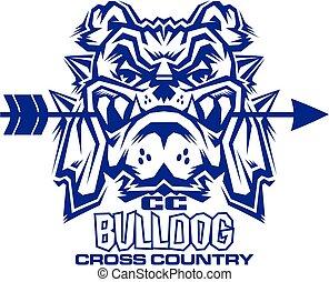 buldog, kraj, krzyż