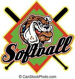 buldog, softball