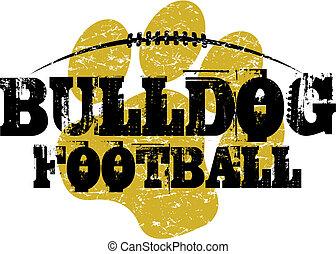 buldogue, futebol, desenho
