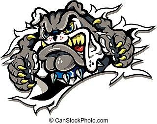 buldogue, mascote