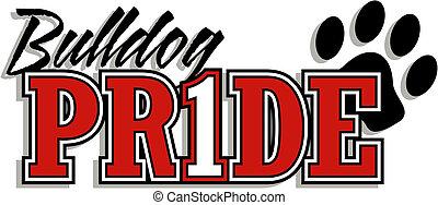 buldogue, orgulho, logotipo