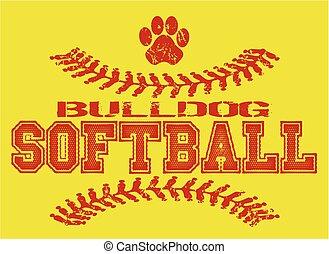 buldogue, softball