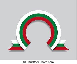bulgare, arrondi, illustration., résumé, arrière-plan., ...