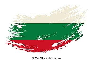 bulgare, drapeau, vecteur, illustration., arrière-plan., ...