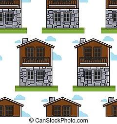 bulgare, habitation, maison, voyage, seamless, architecture...