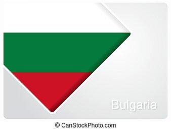 bulgare, illustration., arrière-plan., drapeau, vecteur, ...