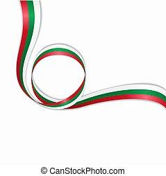 bulgare, vecteur, illustration., arrière-plan., drapeau, ...