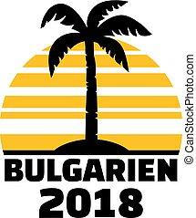 Bulgaria 2018 palm tree german