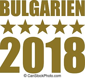 Bulgaria 2018 stars gold german