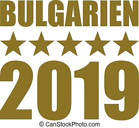 Bulgaria 2019 stars gold german