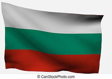 Bulgaria 3d flag isolated on white