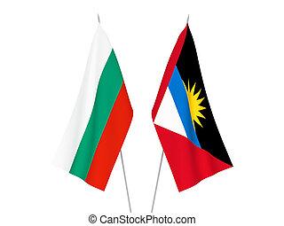 Bulgaria and Antigua and Barbuda flags - National fabric ...
