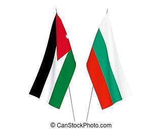 Bulgaria and Hashemite Kingdom of Jordan flags