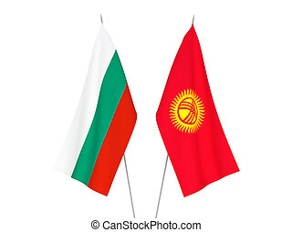 Bulgaria and Kyrgyzstan flags - National fabric flags of ...