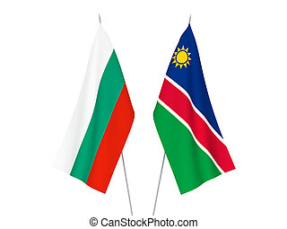 Bulgaria and Republic of Namibia flags