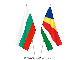 Bulgaria and Seychelles flags - National fabric flags of ...