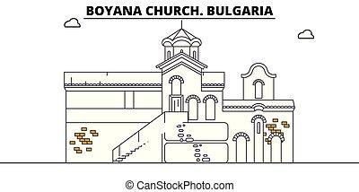 Bulgaria - Boyana Church travel famous landmark skyline,...