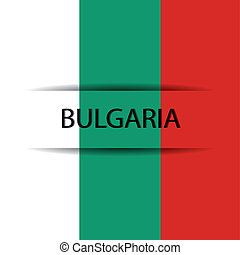 Bulgaria text on special background allusive to the flag