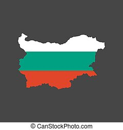 Bulgaria flag and map