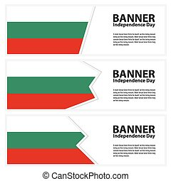 bulgaria  Flag banners collection independence day