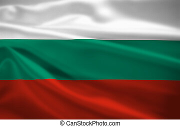 Bulgaria flag blowing in the wind
