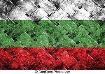Bulgaria flag , Bulgaria flag on Weave Bamboo