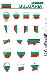 Bulgaria Flag Collection. Big set for design.