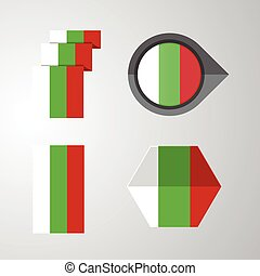 Bulgaria flag design set vector