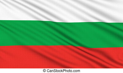 Bulgaria flag, with real structure of a fabric