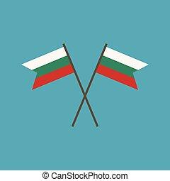 Bulgaria flag icon in flat design