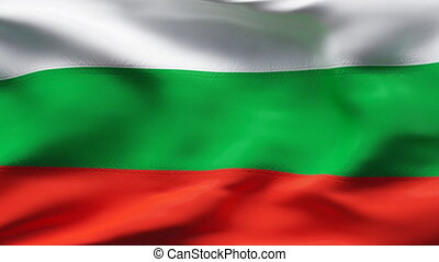 BULGARIA flag in slow motion