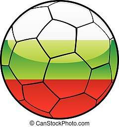 Bulgaria flag on soccer ball