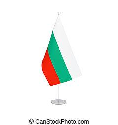 Bulgaria flag on white background