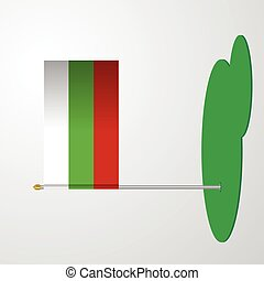 Bulgaria Flag Pole