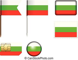 Bulgaria flag set