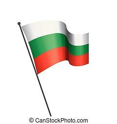 Bulgaria flag, vector illustration on a white background